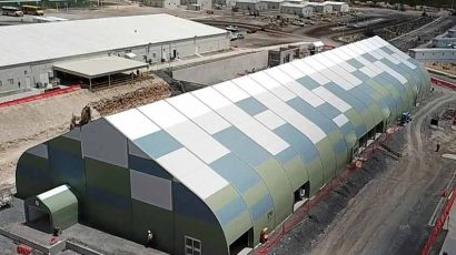 Goldcorp Lunchroom Sprung Structure tensioned Membrane
