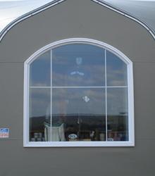 Sprung Elliptical window