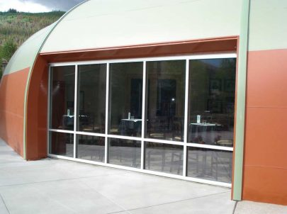 Glazing Wall in Sprung Structure - tensile structure