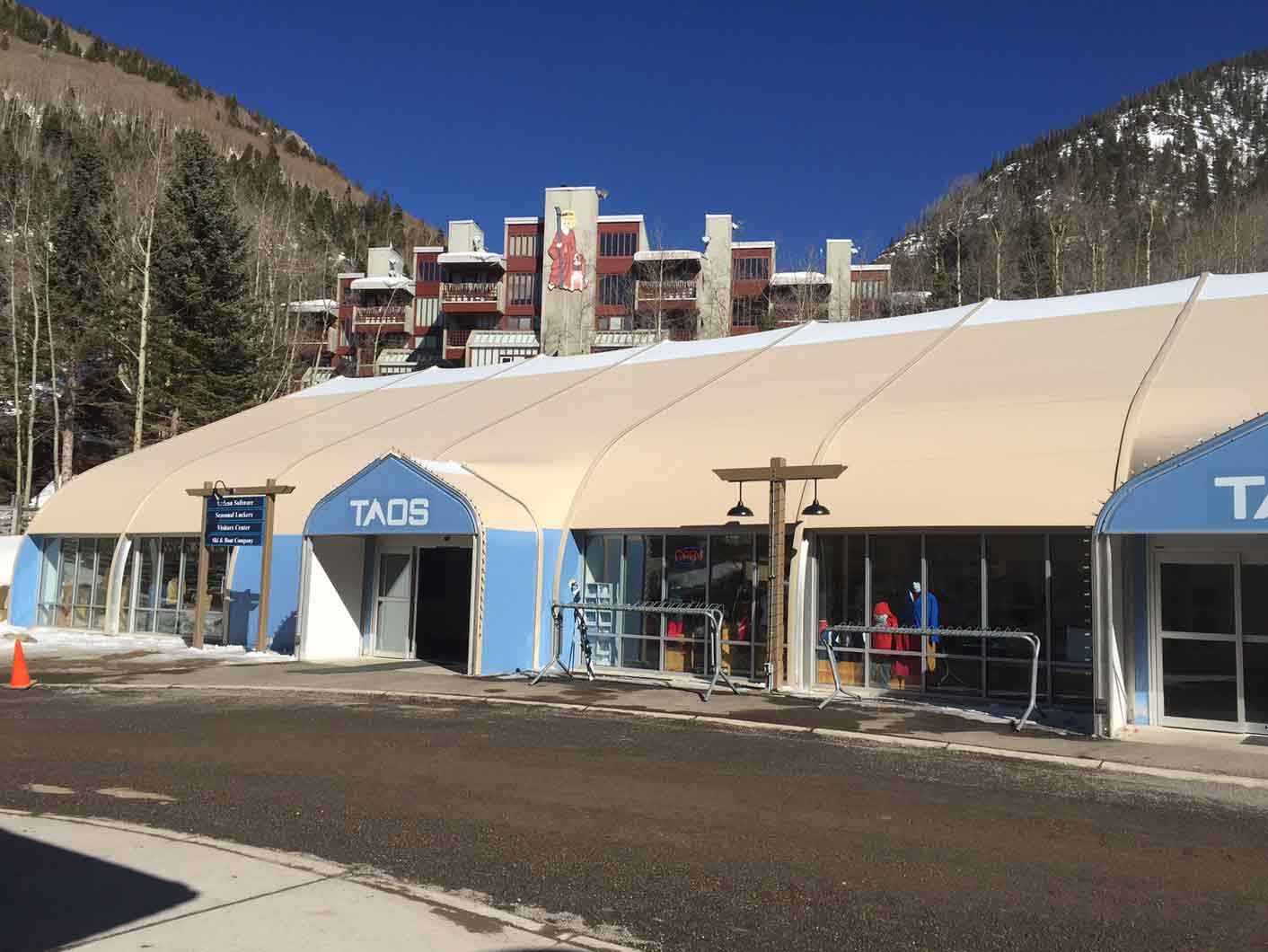 Ski Taos Ski Resort fabric structure welcome center