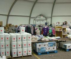 warehousing for disaster recovery fabric building