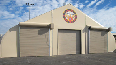 Sprung fire hall fabric building - portable building