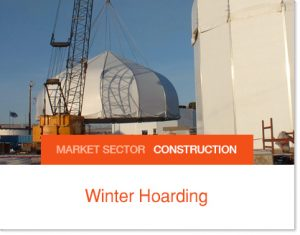 Winter Hoarding shelter construction projects Sprung tents