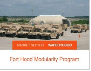 Fort Hood Modularity Program Sprung Tents