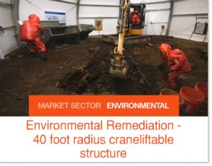 Environmental Remediation in low pressure temporary structure Building