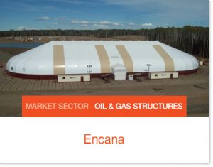 Encana Frac Sand Storage that can be dismantled and moved