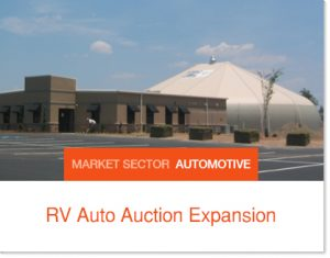 RV Auto Auction Expansion Sprung Building