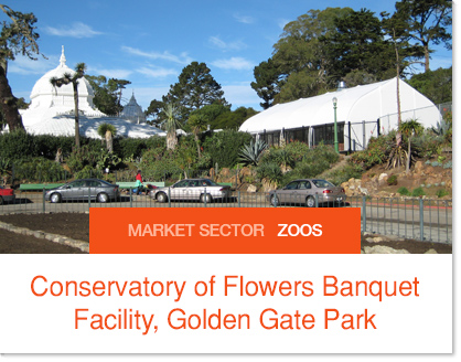 Conservatory of Flowers Banquet Facility Sprung Building