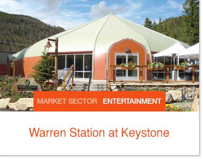 Warren Station Theater fabric building.