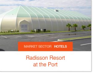 Radisson wedding and conference facitliy sprung structure