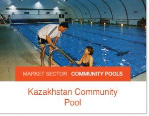 Kazakhstan Community Pool ove 20 years old tent pool enclosure
