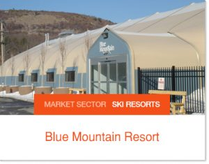 Blue Mountain Resort Ski Hill Expansion with short build times use Sprung Structures