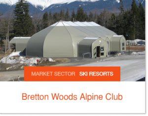 Bretton Woods Alpine Club Ski Club Eating on Hill Sprung Tent