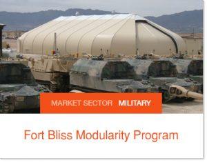 Fort Bliss Modularity Program Sprung buildings