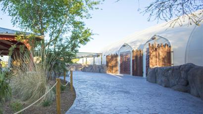 El Paso Zoo beautiful tensile structure