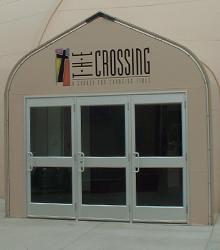 Sprung Personnel Door Options Triple Glass Door
