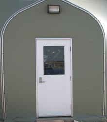 Sprung Personnel Door Single half glass