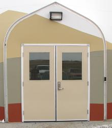 Sprung Pesonnel Door Double with half glass