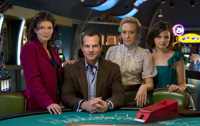 HBO Big Love Bill Paxton sprung structure gaming casino on film set