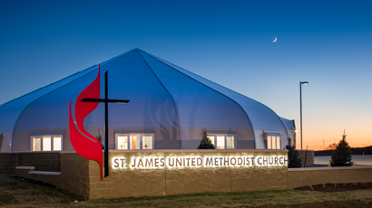 St. James Church Sprung Building - tensile structure