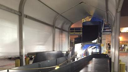 Delta Conveyor Belt Cover - Sprung Solutions - Sprung tensile structure