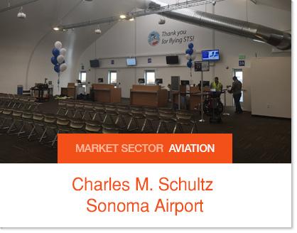 Charles M. Schultz Sonoma Airport Sprung Passenger Holding Room