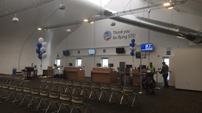 Charles M. Schultz Sonoma Airport Sprung Pasenger Holding Room