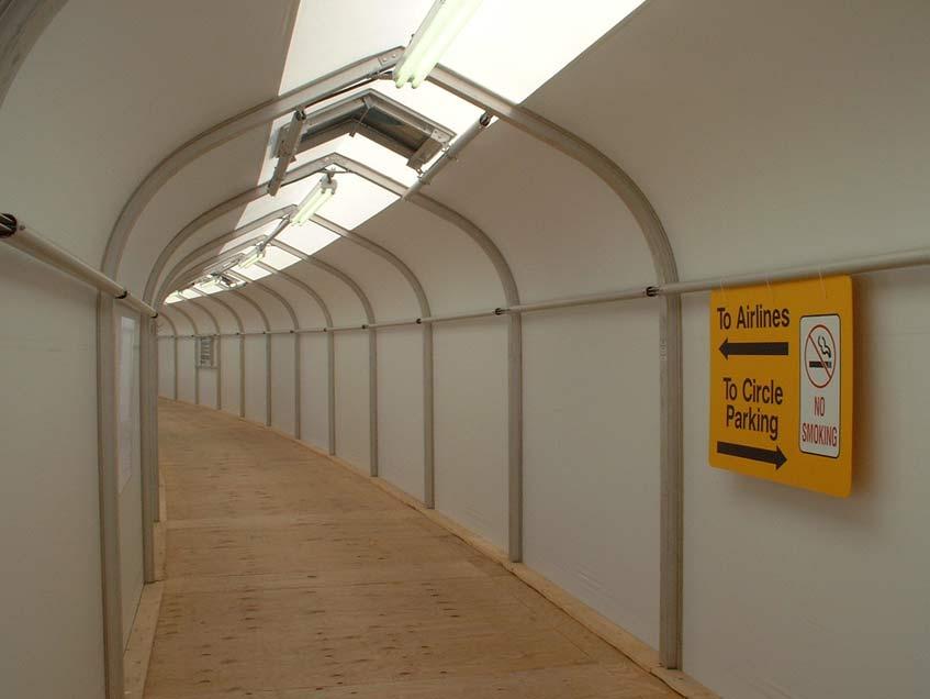 Sprung Connecting Corridors - Sprung portable building