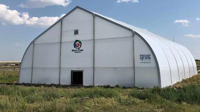 Sprung greenhouse modular construction
