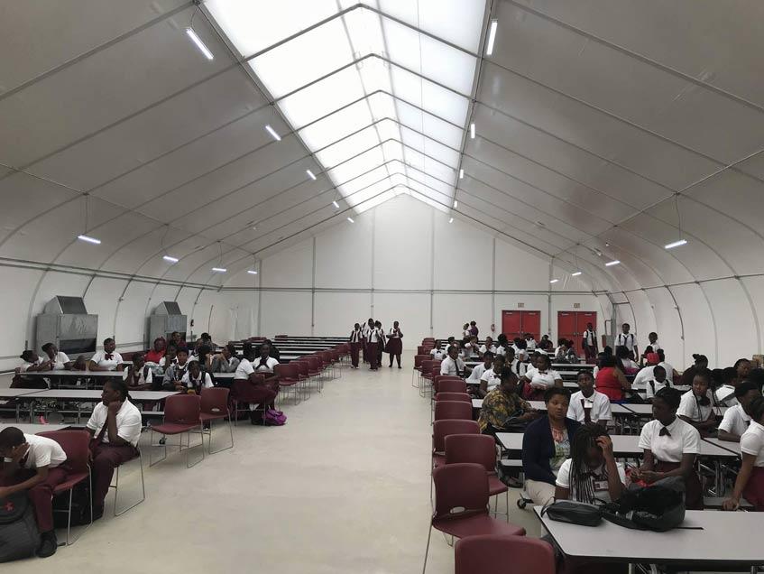 Sprung Buildings US Virgin Island Board of Education Gymnasiums