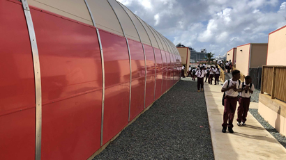 US Virgin Island Board of Education Gymnasiums with Sprung Shield