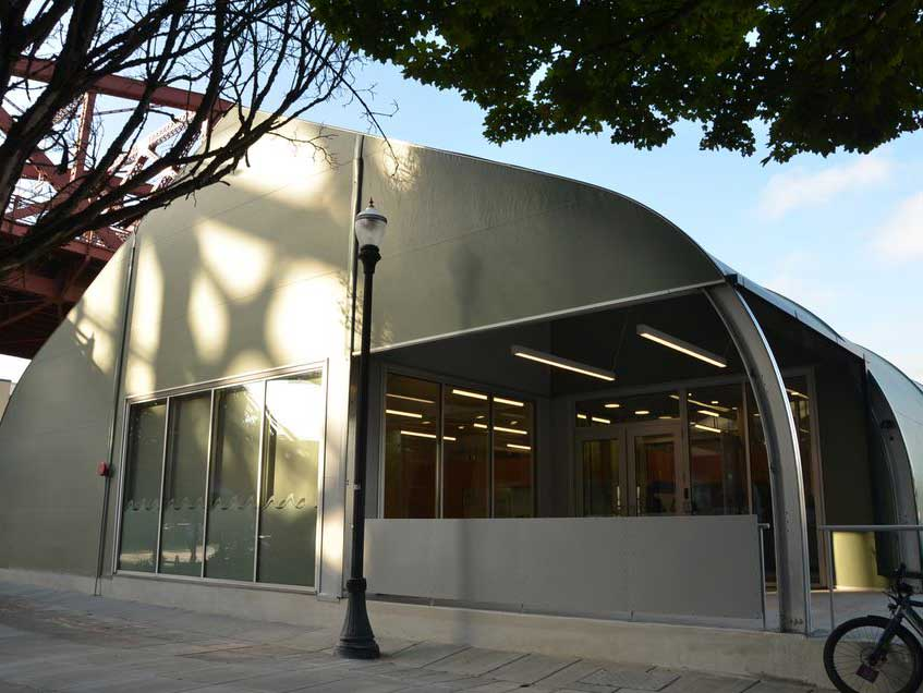 Sprung structures - Membrane buildings help the cities homeless populations.