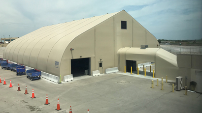 Kansas City International Airport baggage handling tensile structure for Southwest Airlines 90 x 130