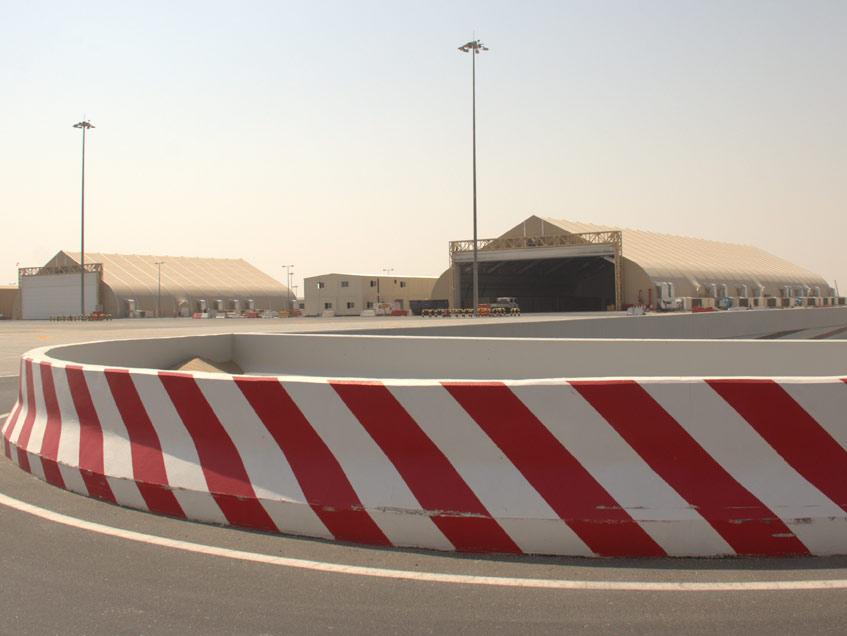 Helicopter Hangars Al Maktoum International Airport Dubai World Central Sprung Hangar