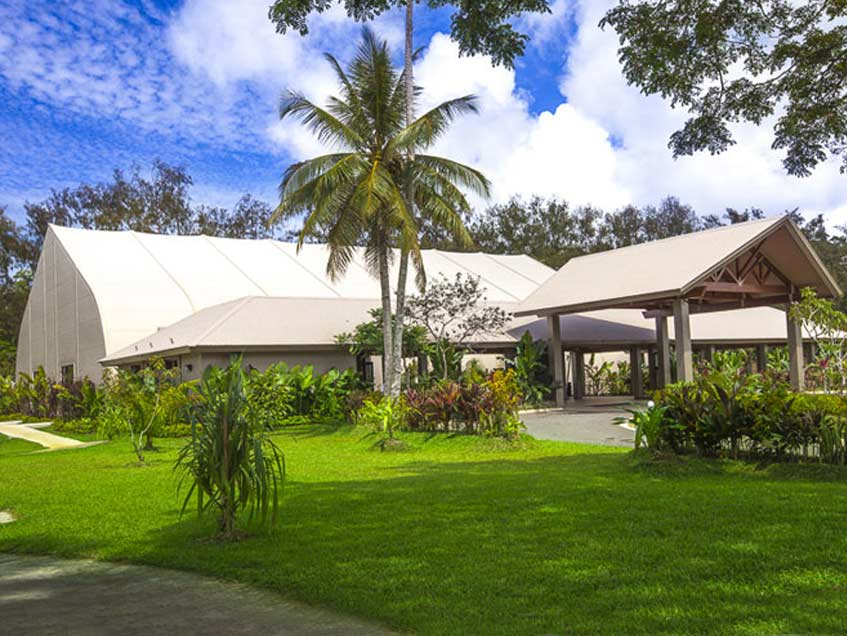 On March 13, 2015 Cyclone Pam hit Vanuatu with winds of up to 250 kph (155 mph). Warwick Le Lagon Convention Center was used as a shelter throughout the category 5 cyclone and sustained minor exterior damage.