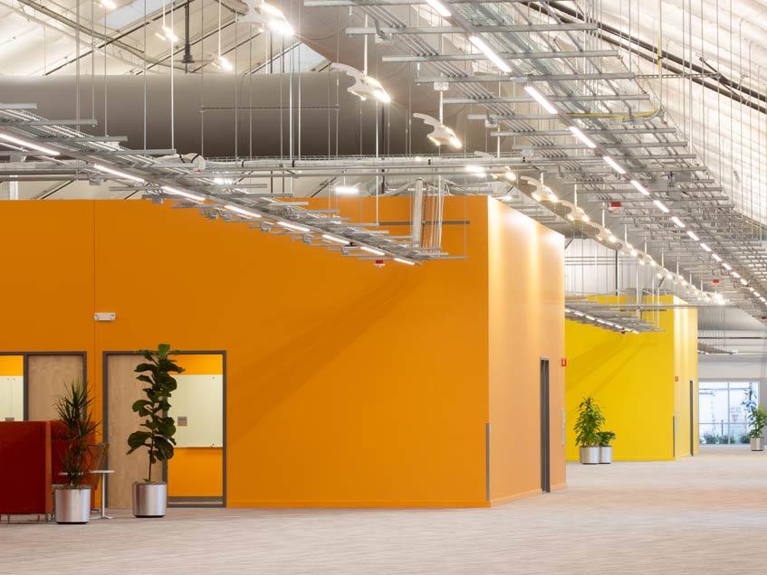 Blue Origin headquarters in Kent Washington is in a modular structure.