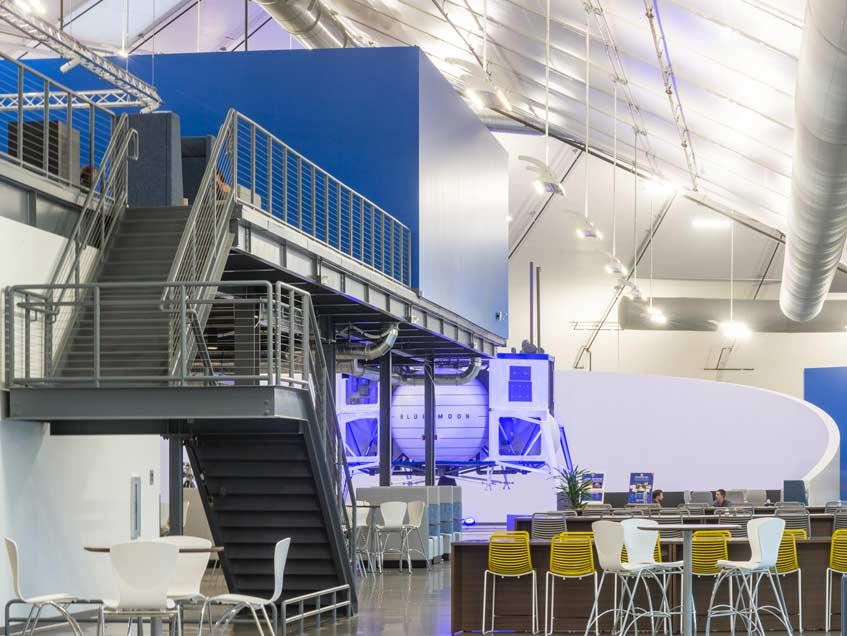 Offices, research and development center in a membrane structure.