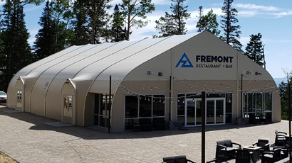 Sprung tensile structure Ski Resort