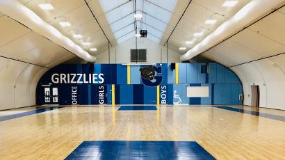 Portable school gymnasium