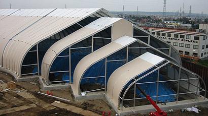 Sprung Fabric Building